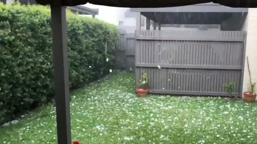 Australia weather NSW Queensland thunderstorms rain hail warnings