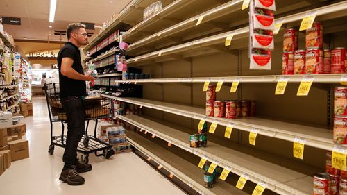 Many stores have been left out of stock by instances of panic buying.