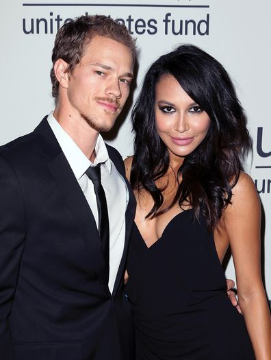 Ryan Dorsey and Naya Rivera attends UNICEF's Next Generation's 2nd Annual UNICEF Masquerade Ball at Hollywood Forever Cemetery on October 30, 2014 in Los Angeles, California.