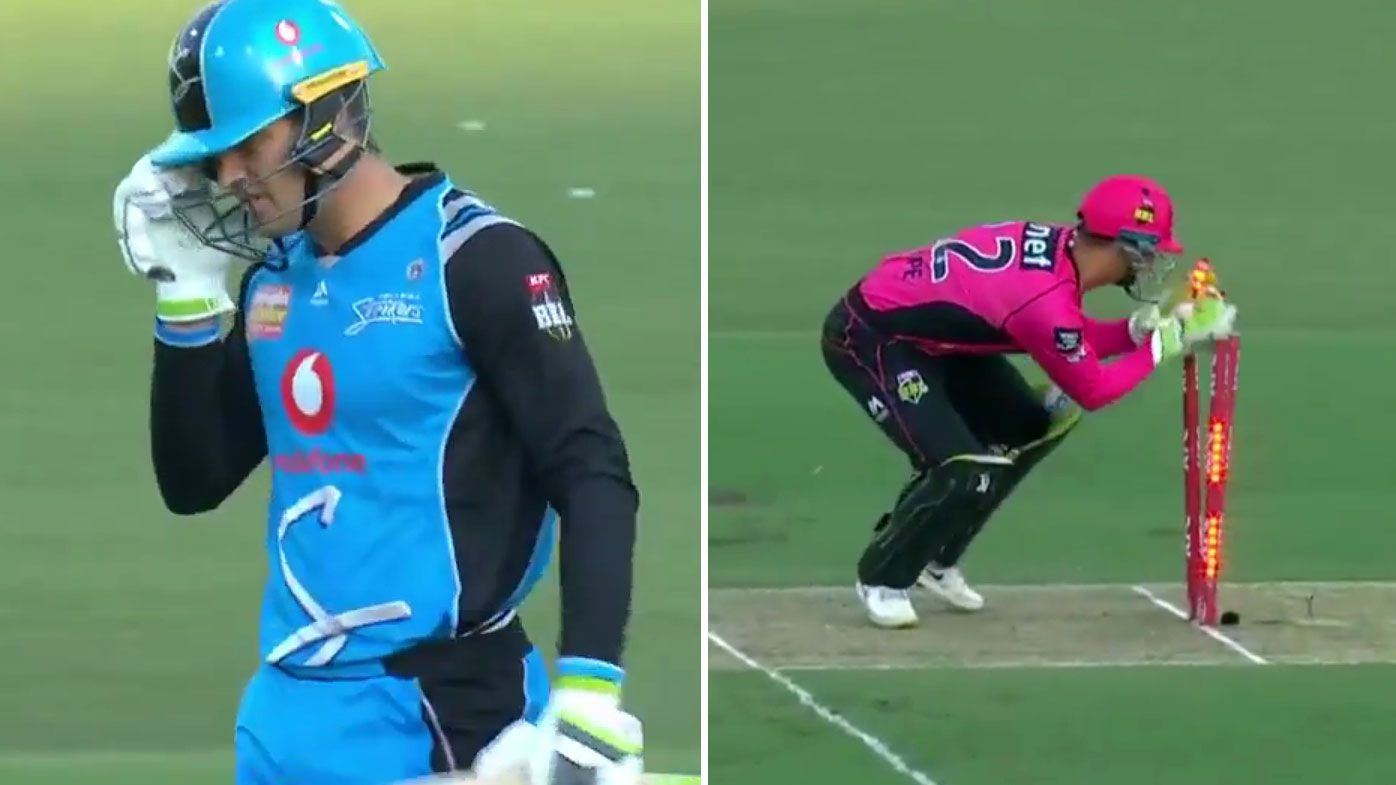 BBL: Sydney Sixers close in on finals berth as Alex Carey run out headlines Strikers' loss
