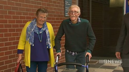 Rob and his sister were presented with the stolen medals. (9NEWS)