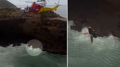 Helicopter rescues boy trapped in blowhole