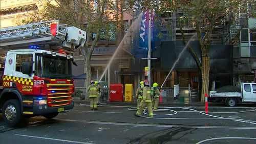 Fire crews have been called to tackle the blaze in Macquarie St, Sydney. Picture: Supplied