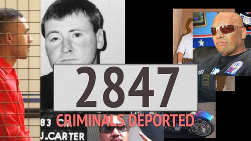 The government has deported 2847 foreign-born criminals in the past three years.