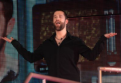 Dustin Diamond enters the Celebrity Big Brother House at Elstree Studios on August 22, 2013 in Borehamwood, England.