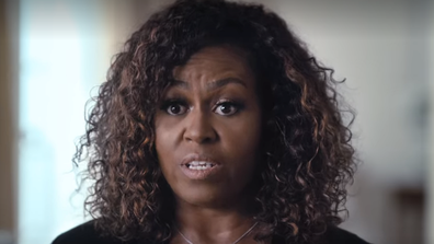 Michelle Obama's new documentary is based on her book Becoming.