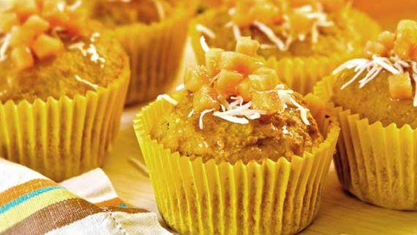 Papaya and coconut muffins