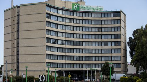The Holiday Inn Hotel in Melbourne.