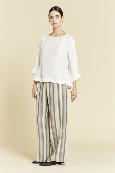 "Smart Casual chic<br /> Wide-legged trousers bring a touch of St Tropez to St Ives or St Albans.<br /> <br /> Lee Matthews Candice Stripe <a href=""https://leemathews.com.au/collections/bottoms/products/candice-stripe-pant?variant=18944704901"" target=""_blank"">pant</a>, $320<br /> Lee Matthews Piet <a href=""https://leemathews.com.au/collections/tops/products/piet-top-w-side-gathers?variant=18703736261"" target=""_blank"">top</a> with side gathers, $295"