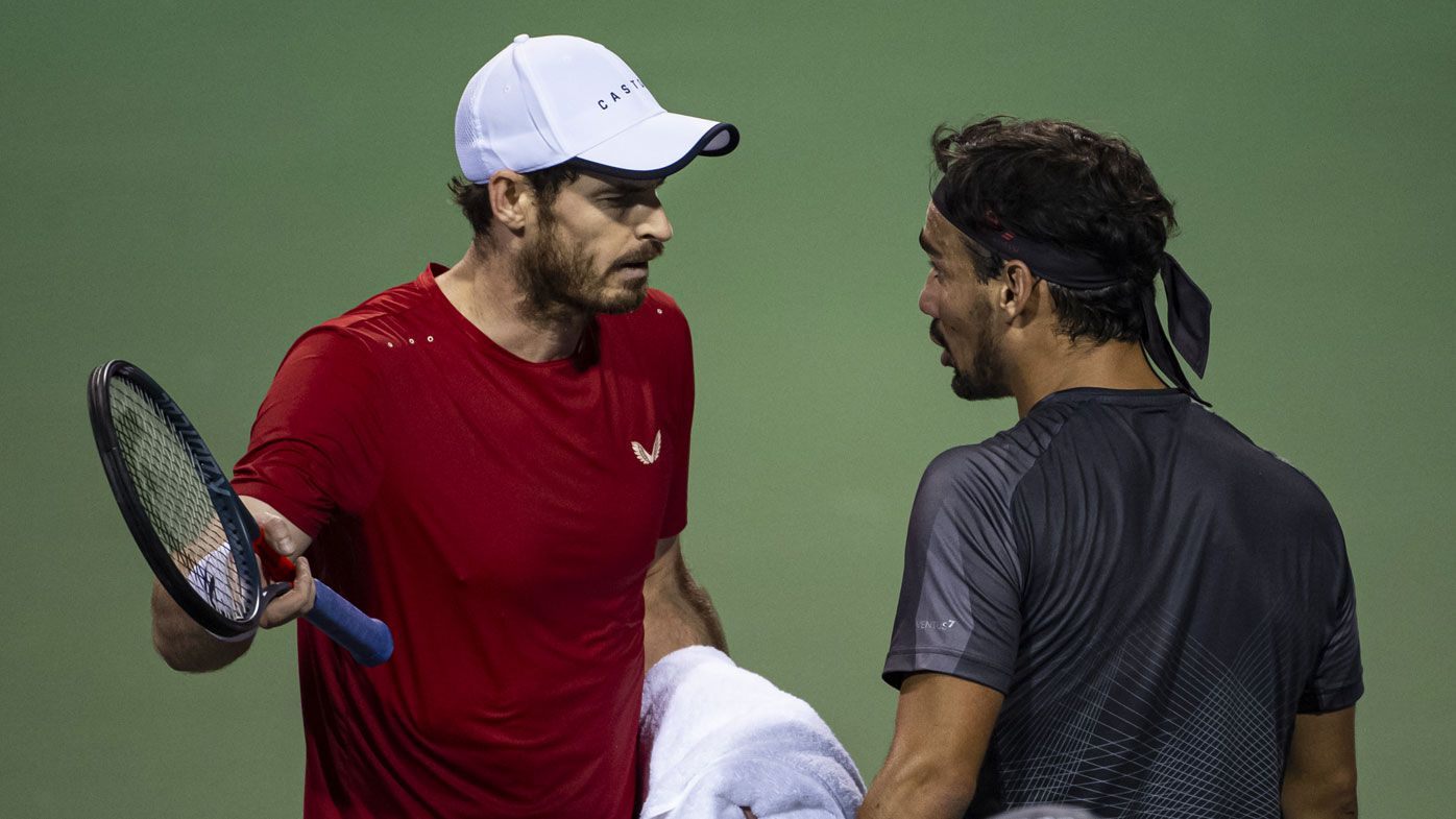 'Shut up!': Andy Murray in ugly clash with Fabio Fognini at Shanghai Masters