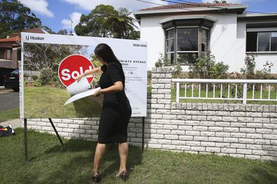 Estate agent Connie Gerakis after a successful property auction in Earlwood last weekend.