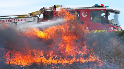 Hot and dry winds that could reach 100km/h are likely to raise the fire danger warnings to severe. (File)