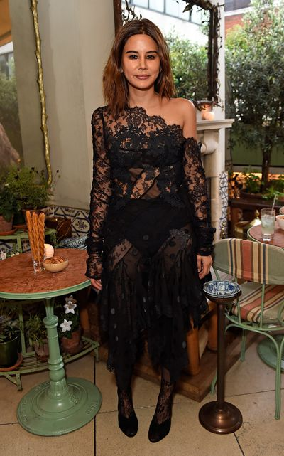 Vogue Australia stylist Christine Centenera in Zimmermann, celebrating the launch of Zimmermann's London flagship store in Mayfair at the private members' club 5 Hertford St, London.