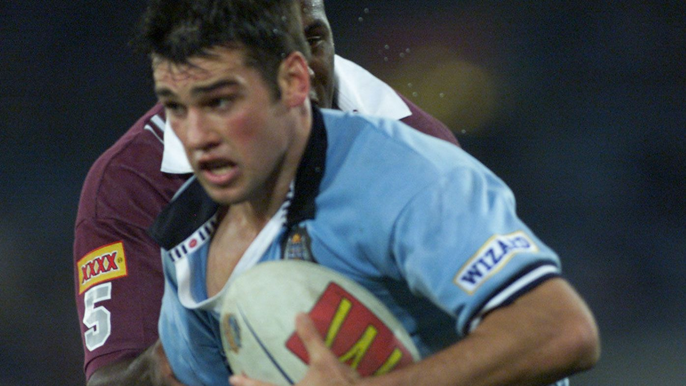Ryan Girdler in action for New South Wales during the 2000 State of Origin series.