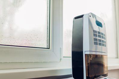 Dehumidifier on the windowsill