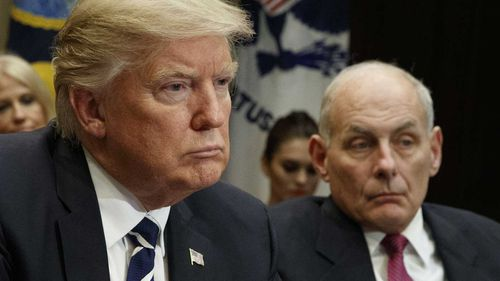 Donald Trump with John Kelly. (AAP)