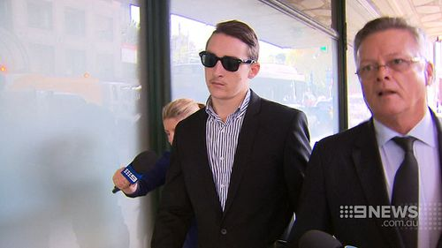 Matthew Forti outside court in March. (9NEWS)