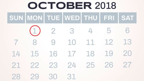 Australians get a public holiday on October 1, Labor Day