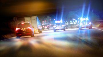 Dash cam car crash police cars