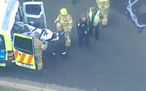 He is being rushed to hospital with serious injuries. (9NEWS)