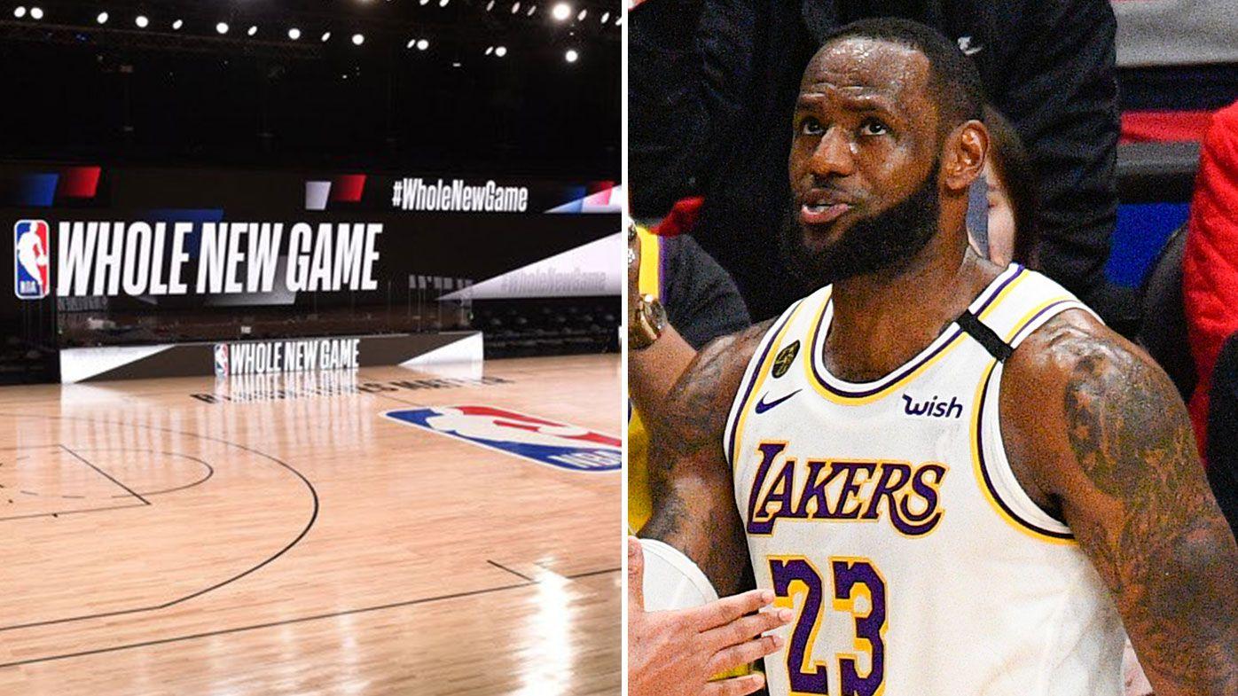NBA Orlando court, LeBron James