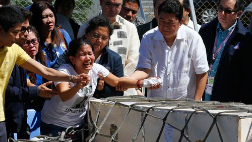 Mr Duterte said Ms Demafelis's body bore torture marks and signs that she was strangled. (AAP)
