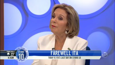 Ita Buttrose explains her sudden departure from 'Studio 10' on-air