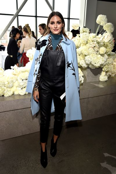 Model and fashion bloggerOlivia Palermo at the Zimmermann show for New York Fashion Week, September 10, 2018