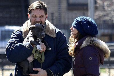 Tom Hardy couldn't resist the urge to eat his four-legged co-star on the set of <i>Animal Rescue</i>. Somebody get this man some catering!