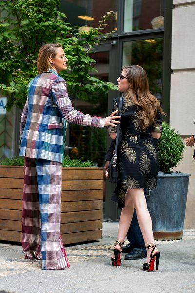 Blake and Anna are spotted joking around with each other inSoHo New York on August 18.