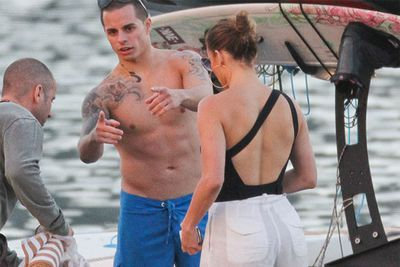 Jennifer Lopez went wakeboarding in Rio De Janeiro with her toyboy Casper Smart.