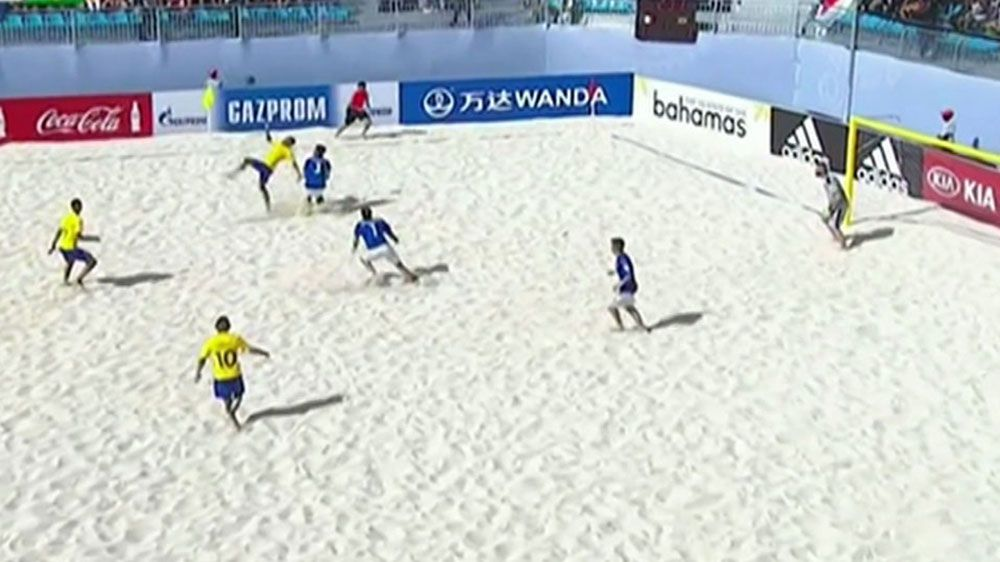 Bicycle goal proves difference at Beach Soccer World Cup