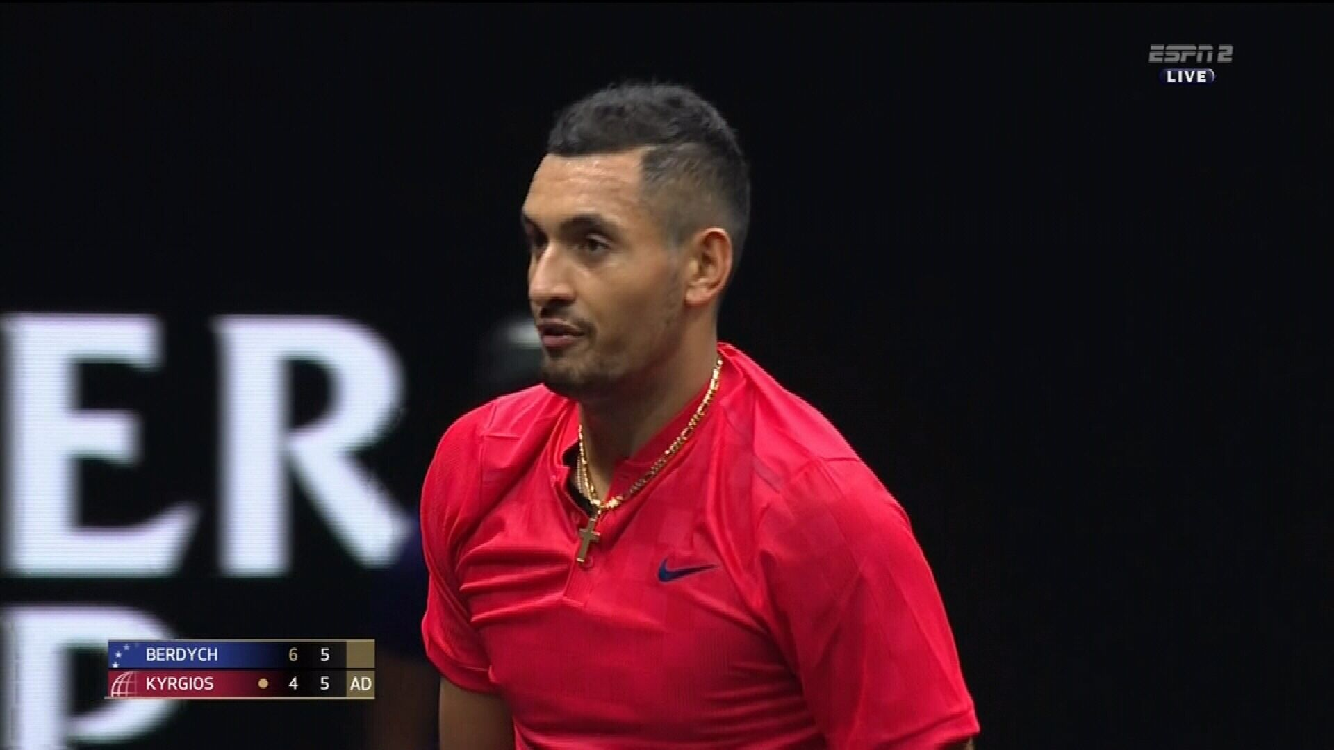 "Kyrgios threatens to ""lose his s---"""