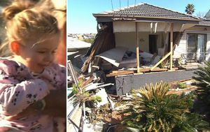 'I am so lucky to have found her alive': Toddler buried in rubble when car crashes into house