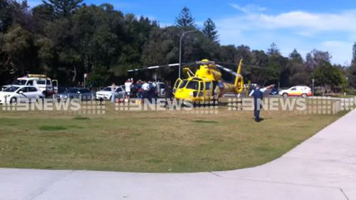 The man was transported to hospital by rescue helicopter. (Supplied)