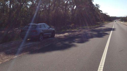 Attila Bogar's grey Audi Q3 was discovered roadside on Piction Road. (Supplied)