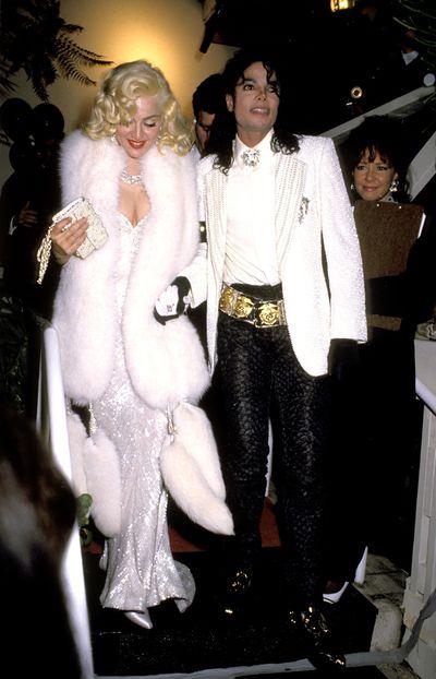 Michael Jackson andMadonnainBob Mackieand $20 million worth of Harry Winston diamonds at the 1991 Academy Awards