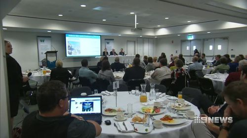 The comments were made at a public council breakfast event.