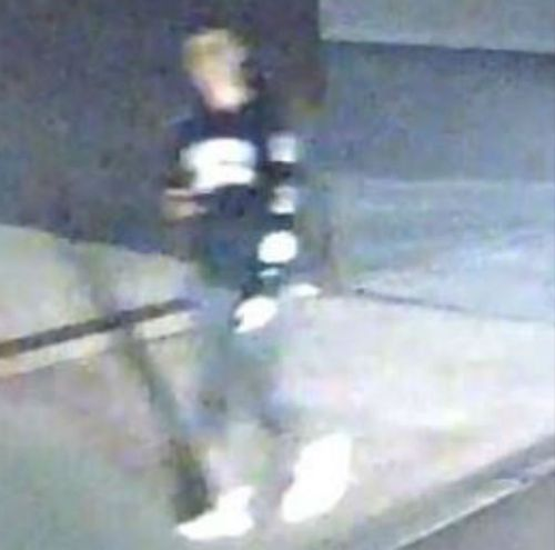 A man, believed to be of Asian appearance, seen walking along Rusden Place. (Victoria Police)
