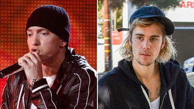 Justin Bieber and Eminem