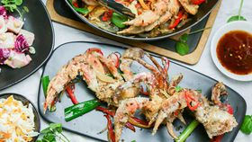 Family Food Fight: The Alatini's Salt and Pepper Crab with Mainese Potato Salad