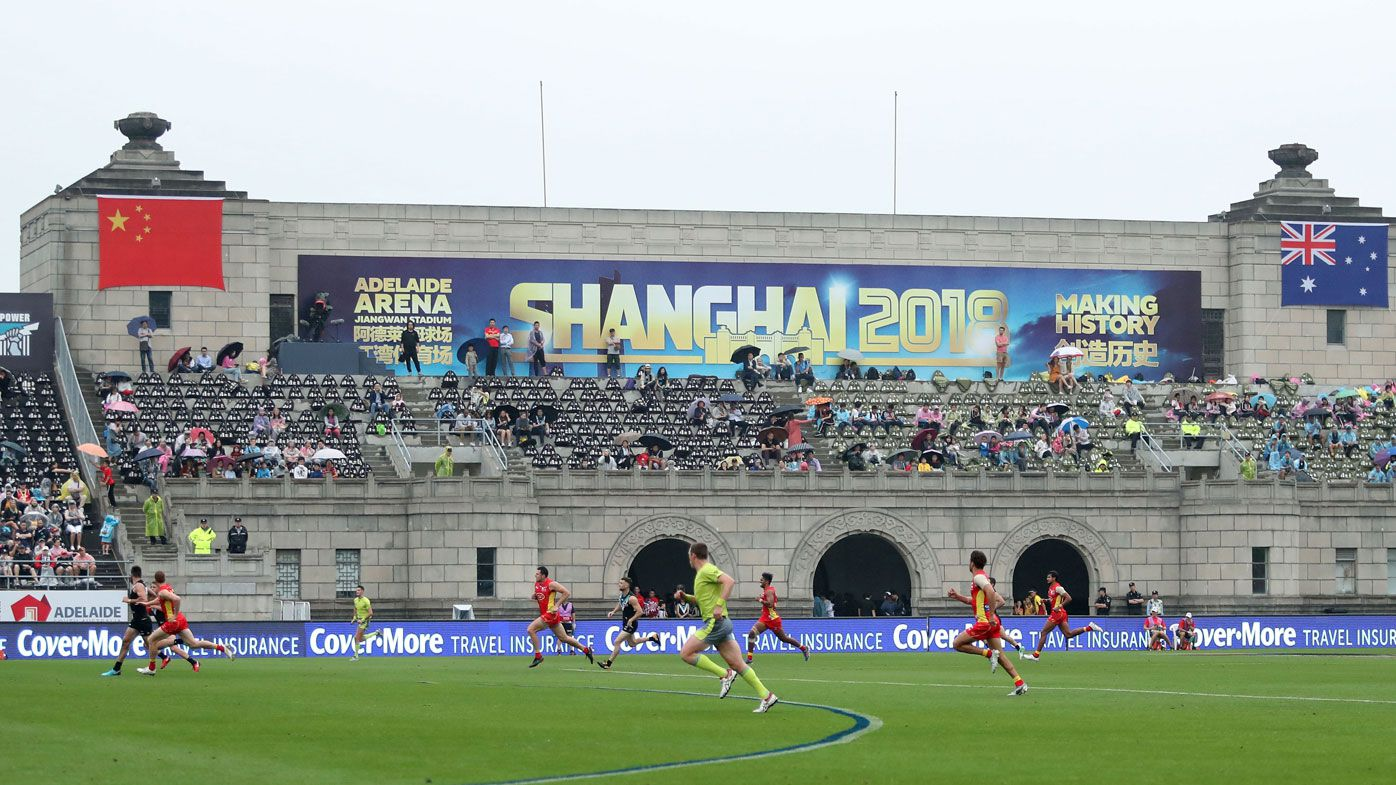 AFL accused of fudging crowd figures for Port Adelaide vs Gold Coast match in China