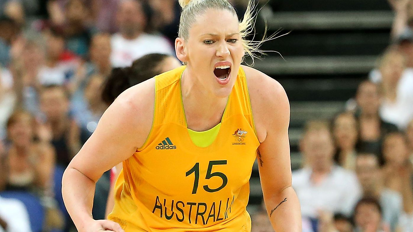 Lauren Jackson #15 of Australia celebrates against Russia during the Women's Basketball Bronze Medal game on Day 15 of the London 2012 Olympic Games
