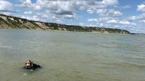 The RCMP were unable to find anything in a dive in the Nelson River.