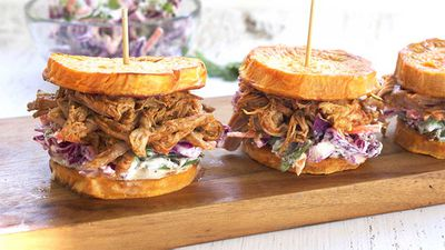 "Recipe: <a href=""http://kitchen.nine.com.au/2017/09/21/16/21/live-love-nourish-pulled-beef-sliders"" target=""_top"">Live Love Nourish's pulled beef sweet potato sliders</a>"