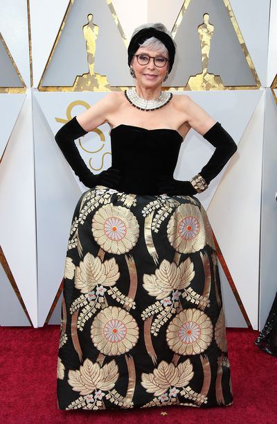 The actress wore the same gown at the Academy Awards in 2018.