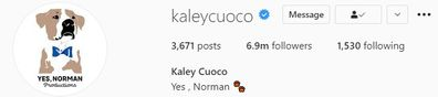 Kaley Cuoco ditches estranged husband Karl Cook from her Instagram bio.