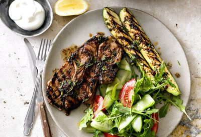Indian-style barbecued lamb forequarter chops