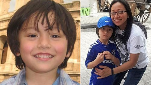 Julian and his mother, Jom. (Supplied)