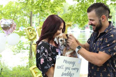 My Wedding Day Brittany Cherchian elopement second wedding puppy proposal